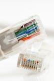 Cavo di Ethernet per un calcolatore Fotografie Stock Libere da Diritti