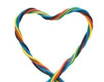 Cavo di figura del cuore Fotografia Stock Libera da Diritti