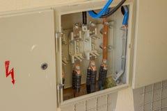 Cavo di rame di energia elettrica pronto per il connettore 2 Fotografia Stock