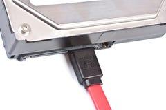 Cavo di SATA HDD Fotografia Stock Libera da Diritti