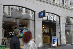 CAVO DI TDC TELEDENMARK Fotografia Stock