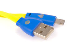 Cavo di USB Fotografie Stock