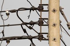Cavo elettrico isolato di scalata Immagine Stock