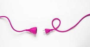 Cavo elettrico rosa Immagine Stock