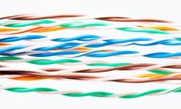 cavo elettronico di Muti-colore Fotografia Stock
