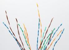 cavo elettronico di Muti-colore Fotografia Stock Libera da Diritti