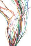 cavo elettronico di Muti-colore isolato su bianco  Fotografia Stock Libera da Diritti