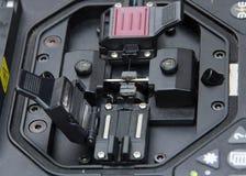 Cavo a fibre ottiche della giuntatrice Fotografie Stock Libere da Diritti