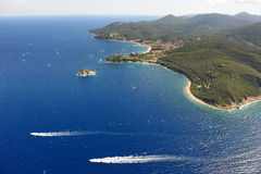 Cavo harbour-Elba island Royalty Free Stock Photography