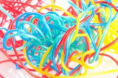 Cavo multicolore del calcolatore fotografie stock libere da diritti