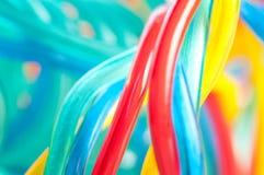 Cavo multicolore del calcolatore immagini stock