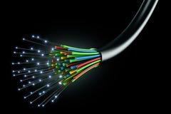 Cavo ottico della fibra Fotografia Stock Libera da Diritti