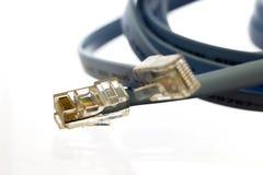 cavo piano della rete per configurare i router Fotografie Stock Libere da Diritti