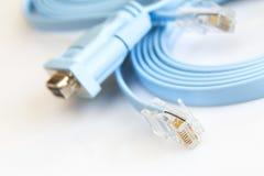 Cavo piano della rete per configurare i router Fotografia Stock