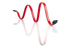 Cavo rosso di SATA Immagine Stock Libera da Diritti