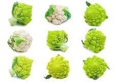 Cavolfiore e broccoli Fotografia Stock Libera da Diritti