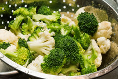 Cavolfiore e broccoli freschi Fotografia Stock Libera da Diritti