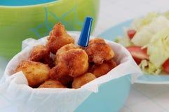 Cavolfiore fritto con l'insalata della verdura fresca Fotografia Stock Libera da Diritti