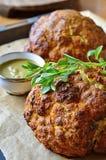 Cavolfiore indiano del curry con la salsa di menta Immagini Stock