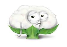 Cavolfiore triste, personaggio dei cartoni animati di verdure deludente con gli occhi infelici illustrazione di stock