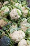 Cavolfiori freschi del mercato, Nepal Fotografia Stock