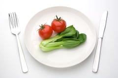 Cavolo cinese e pomodoro Fotografia Stock