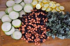 Cavolo della zucca dello zucchini dei fagioli fotografia stock