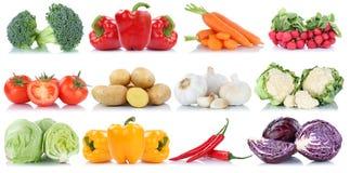 Cavolo delle patate delle carote del peperone dolce della lattuga dei pomodori delle verdure Fotografia Stock