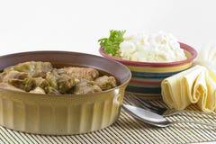 Cavolo farcito e patate Fotografie Stock