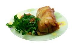 Cavolo farcito (golubets in cucina russa) con Fotografia Stock Libera da Diritti