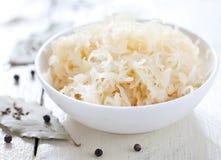 Cavolo marinato fresco (crauti tedeschi) Immagine Stock Libera da Diritti