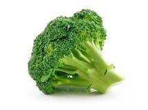 Cavolo maturo del broccolo isolato su bianco Fotografia Stock Libera da Diritti
