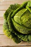 cavolo verde dal giardino per pranzo Fotografie Stock