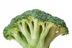 Cavolo verde fresco dei broccoli nelle grandi gocce di acqua immagini stock