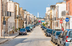 Cavour street of San Vito Lo Capo, most famous touristic destinations of Sicily. Stock Image