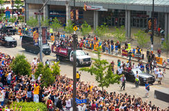 Cavs parade - LeBron Royalty Free Stock Photos