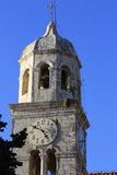 Cavtat clock tower in the evening sun Stock Photography