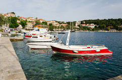 Cavtat Harbour. View of small boats and yachts in Cavtat Harbour,Croatia Royalty Free Stock Photography