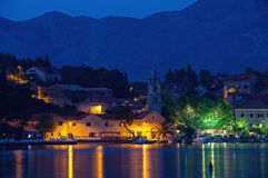Cavtat by night Royalty Free Stock Photo