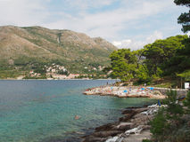 Cavtat northwest shore, august 2013, Croatia Stock Photo