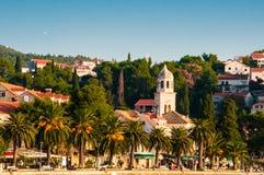 Cavtat, pueblo de playa en Croacia Fotografía de archivo libre de regalías