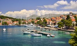 Cavtat - stad i Dalmatia, Kroatien Fotografering för Bildbyråer