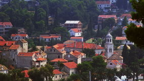 Cavtat town panorama stock video footage