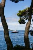 Cavtat-Yachtjachthafen - Kroatien Stockfoto