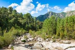Cavu natural pool near Tagliu Rossu and Sainte Lucie in Corsica Royalty Free Stock Images