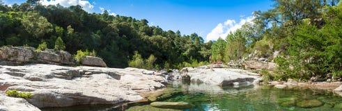 Cavu natural pool near Tagliu Rossu and Sainte Lucie in Corsica Stock Photos
