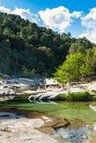 Cavu natural pool near Tagliu Rossu and Sainte Lucie in Corsica Stock Images