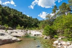 Cavu natural pool near Tagliu Rossu and Sainte Lucie in Corsica Royalty Free Stock Image