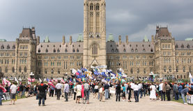 CAW Protest on Parliament Hill Stock Photography