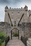 Cawdor Castle LT WB. Famous Scottish Cawdor Castle, known from Shakespeare's tragedy Macbeth Royalty Free Stock Photo